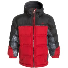 Pacific Trail Printed Puffer Jacket - Insulated (For Big Boys) in Red - Closeouts
