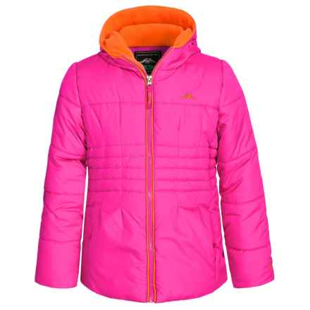 Pacific Trail Puffer Coat with Fleece Neck Gaiter - Fleece Lined (For Big Girls) in Pink - Closeouts