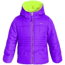 Pacific Trail Puffer Jacket with Neck Warmer - Fleece Lined (For Little Girls) in Purple - Closeouts