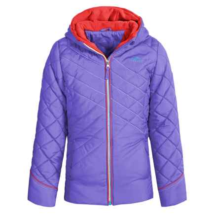 Pacific Trail Puffer Jacket with Neck Warmer (For Big Girls) in Magnetic Purple - Closeouts