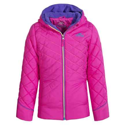 Pacific Trail Puffer Jacket with Neck Warmer (For Big Girls) in Pink Paint - Closeouts