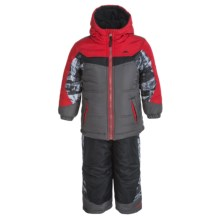 Pacific Trail Puffer Snowsuit Set (For Toddlers) in Asphalt - Closeouts