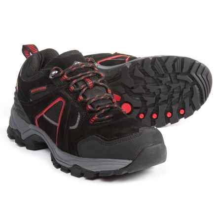 Pacific Trail Raker Hiking Shoes (For Men) in Black/Red - Closeouts