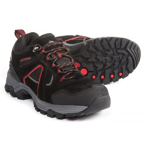Pacific Trail Raker Hiking Shoes (For Men) in Black/Red