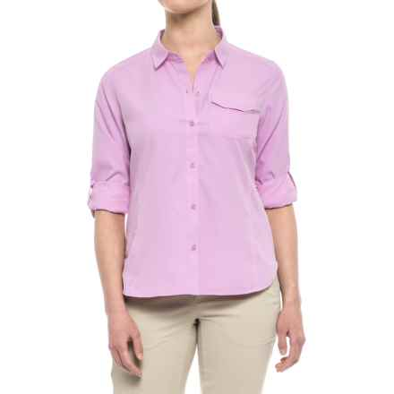 Pacific Trail Roll-Up High-Performance Shirt - UPF 30, Long Sleeve (For Women) in Orchid Bouquet - Closeouts