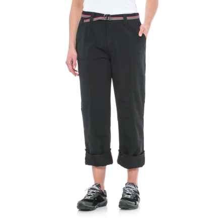 Pacific Trail Roll-Up Pants - UPF 30 (For Women) in Black - Closeouts
