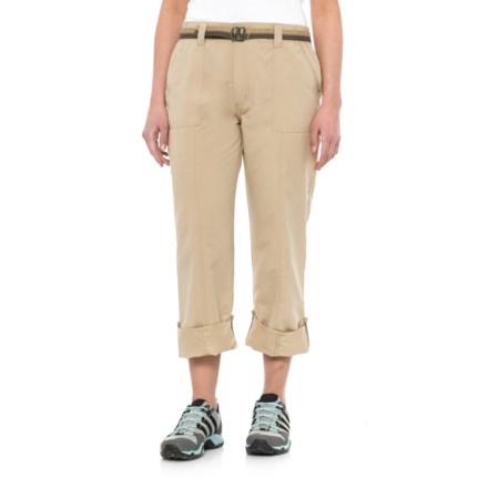 02cf603b3f1 Pacific Trail Roll-Up Pants - UPF 30 (For Women) in Buckskin