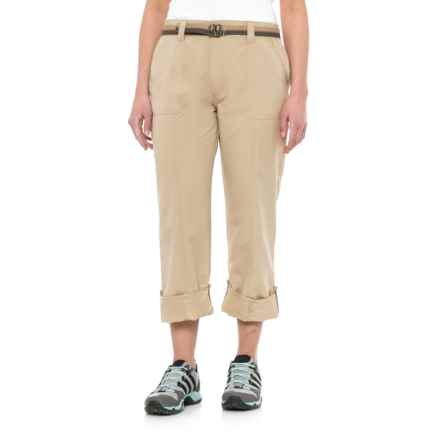Pacific Trail Roll-Up Pants - UPF 30 (For Women) in Buckskin - Closeouts