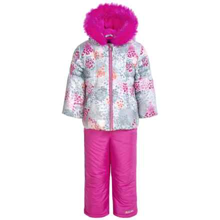 Pacific Trail Ruched Puffer Snowsuit Set - Insulated (For Toddlers) in Intense Pink - Closeouts