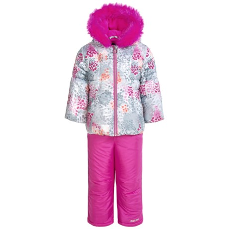 Pacific Trail Ruched Puffer Snowsuit Set - Insulated (For Toddlers)
