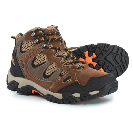 Pacific Trail Sequoia Hiking Boots (For Men) in Brown/Orange