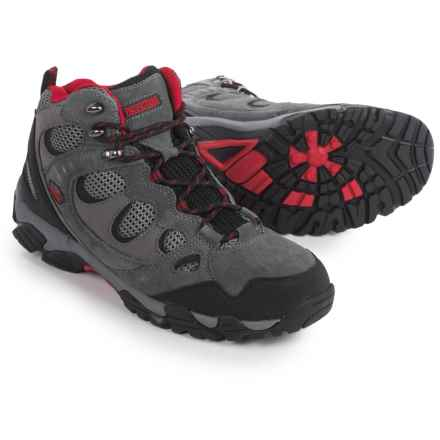 Pacific Trail Sequoia Hiking Boots (For Men) in Grey/Black/Red - Closeouts