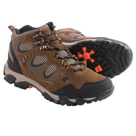 Pacific Trail Sequoia Hiking Boots (For Men) in Smokey Brown/Burnt Orange