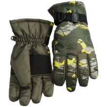 Pacific Trail Ski Gloves - Insulated (For Little and Big Boys) in Dark Olive - Closeouts