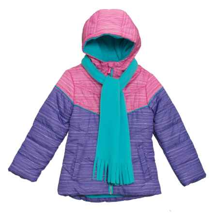 Pacific Trail Space-Dye Color-Block Jacket - Insulated (For Toddler Girls) in Intense Pink - Closeouts