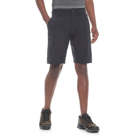 Pacific Trail Stretch Shorts - UPF 30 (For Men) in Black