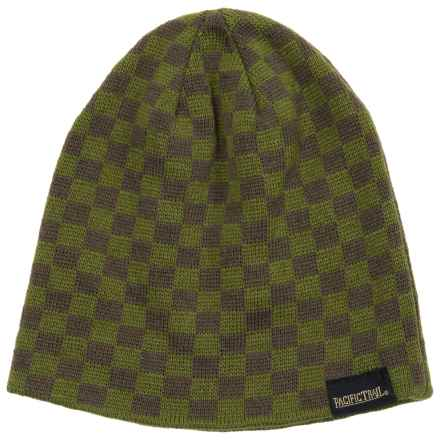Pacific Trail Striped Beanie - Reversible (For Little and Big Boys) in Green - Closeouts