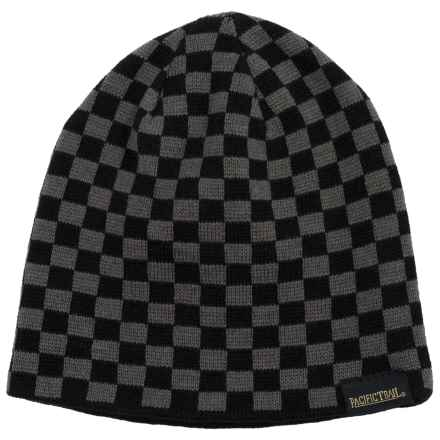 Pacific Trail Striped Beanie - Reversible (For Little and Big Boys) in Grey - Closeouts