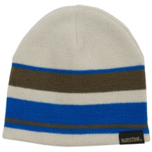 Pacific Trail Striped Beanie - Reversible (For Little and Big Boys) in Military Green - Closeouts