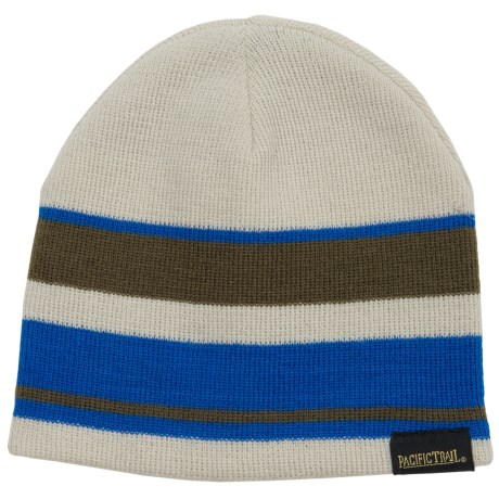 Pacific Trail Striped Beanie - Reversible (For Little and Big Boys) in Military Green
