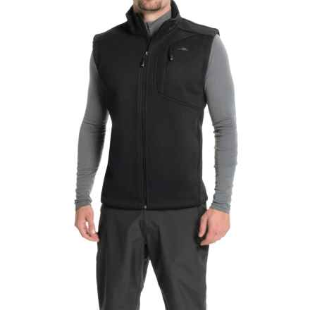 Pacific Trail Sweater Fleece Vest (For Men) in Black/Black - Closeouts