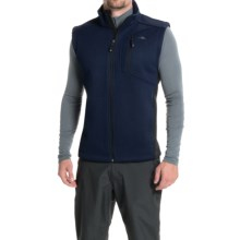 Pacific Trail Sweater Fleece Vest (For Men) in Navy/Black - Closeouts