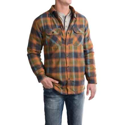 Pacific Trail Thermal-Lined Flannel Shirt Jacket - Snap Front (For Men) in Charcoal/Pumkin - Closeouts