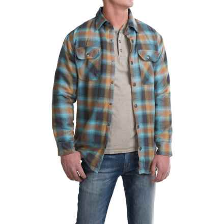 Pacific Trail Thermal-Lined Flannel Shirt Jacket - Snap Front (For Men) in Charcoal/Sky - Closeouts