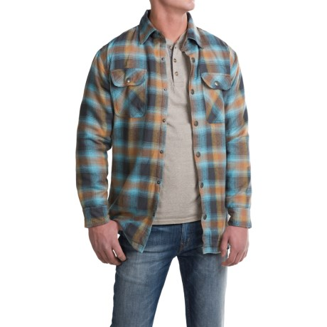 Pacific Trail Thermal-Lined Flannel Shirt Jacket - Snap Front (For Men) in Charcoal/Sky