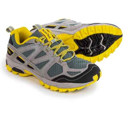 Pacific Trail Tioga Trail Running Shoes (For Men) in Light Grey/Black/Yellow - Closeouts