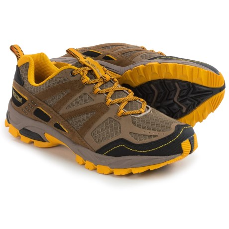 Pacific Trail Tioga Trail Running Shoes (For Men) in Taupe/Gold