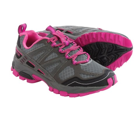 Pacific Trail Tioga Trail Running Shoes (For Women) in Dark Grey/Black/Pink