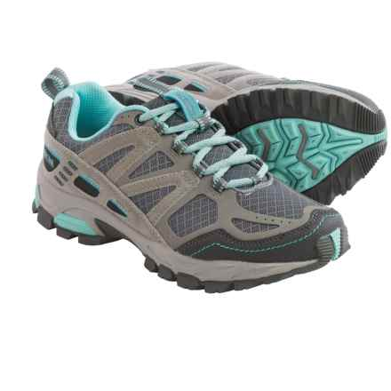 Pacific Trail Tioga Trail Running Shoes (For Women) in Dark Grey/Light Grey/Aqua - Closeouts
