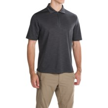 Pacific Trail Tonal Zip Neck Polo Shirt - UPF 30+, Short Sleeve (For Men) in Charcoal - Closeouts