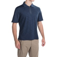Pacific Trail Tonal Zip Neck Polo Shirt - UPF 30+, Short Sleeve (For Men) in Navy - Closeouts