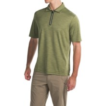 Pacific Trail Tonal Zip Neck Polo Shirt - UPF 30+, Short Sleeve (For Men) in Olive - Closeouts