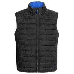 Pacific Trail Ultralight Polyfill Quilted Vest - Insulated (For Men and Women) in Black/Electric Blue