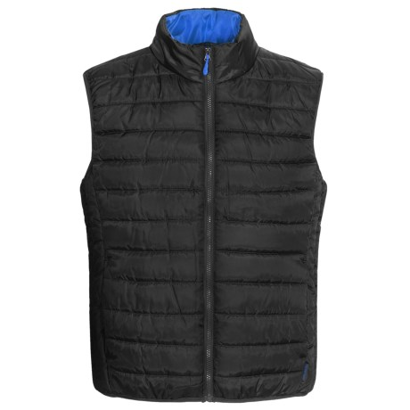 Pacific Trail Ultralight Polyfill Quilted Vest - Insulated (For Men and Women) in Red Chill/Black
