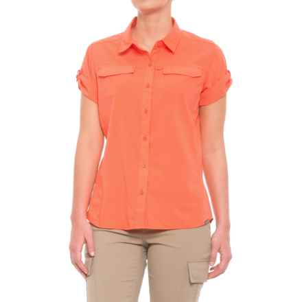 Pacific Trail Vented Stretch Shirt - UPF 30+, Short Sleeve (For Women) in Emberglow - Closeouts