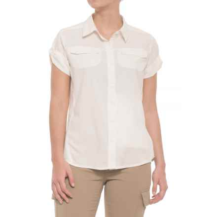 Pacific Trail Vented Stretch Shirt - UPF 30+, Short Sleeve (For Women) in Marshmallow - Closeouts