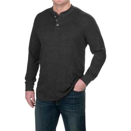 Pacific Trail Waffle-Knit Henley Shirt - Long Sleeve (For Men) in Charcoal Heather - Closeouts
