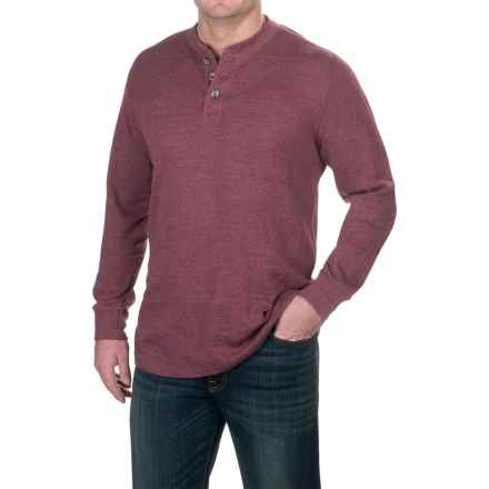 Pacific Trail Waffle-Knit Henley Shirt - Long Sleeve (For Men) in Port Heather - Closeouts