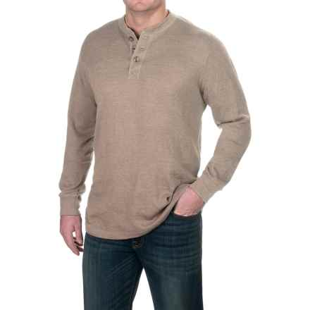 Pacific Trail Waffle-Knit Henley Shirt - Long Sleeve (For Men) in Taupe Heather - Closeouts