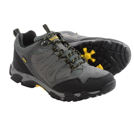 Pacific Trail Whittier Hiking Shoes - Suede (For Men) in Charcoal/Yellow