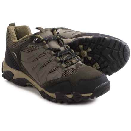 Pacific Trail Whittier Hiking Shoes - Suede (For Men) in Graphite/Black/Olive - Closeouts
