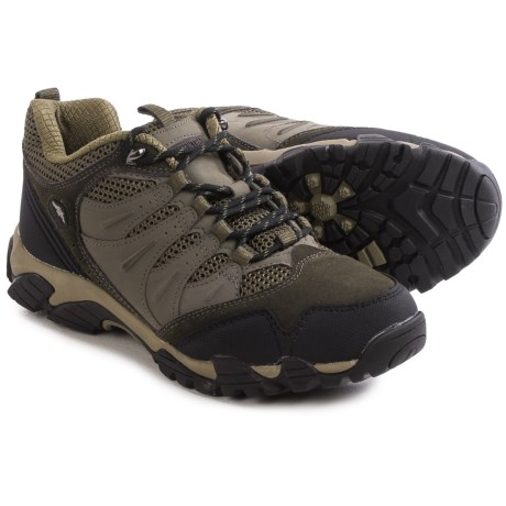Pacific Trail Whittier Hiking Shoes - Suede (For Men) in Graphite/Black/Olive