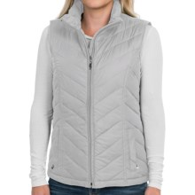 Packable Down Chevron Vest - Insulated (For Women) in Silver - 2nds