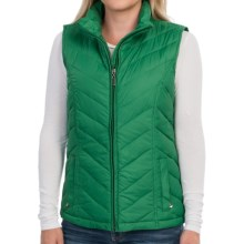 Packable Down Chevron Vest - Insulated (For Women) in Winter Green - 2nds