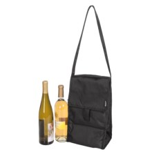 PackIt Double-Insulated Wine Bag in Black - Closeouts