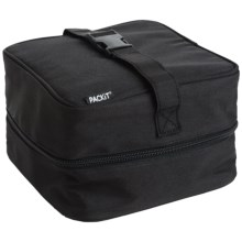 PackIt Insulated Salad Lunch Bag in Black - Overstock